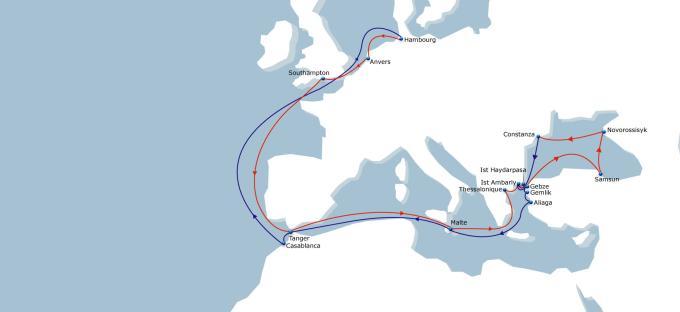俄罗斯和康斯坦察,这也是首条直连北欧—黑海的
