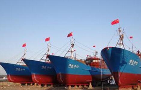 船舶重工15艘远洋渔船同时开工