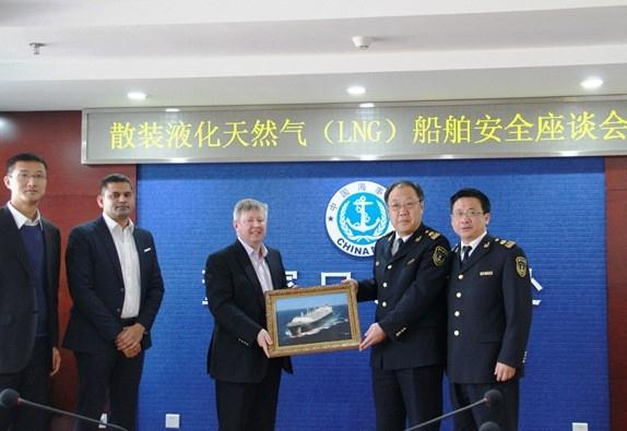公司到青岛董家口海事处筹备组递交了关于载运液化
