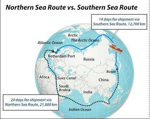 现代商船计划开辟北极航线 釜山至鹿特丹仅需14天